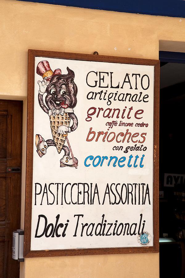 Gelato sign, Maratea, Basilicata, ITALY