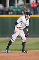 Scranton Wilkes-Barre Yankees shortstop Ramiro Pena #19 in the field during a game against the Rochester Red Wings at Frontier Field on April 9, 2011 in Rochester, New York.  Rochester defeated Scranton 7-6 in twelve innings.  Photo By Mike Janes/Four Seam Images