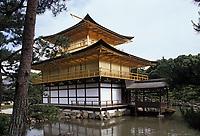 """Asie/Japon/Kyoto: Le pavillon d'Or ou """"Kinkaku-ji"""" édifié en 1394 puis reconstruit après l'incendie en 1950"""
