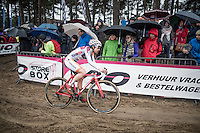 Maud Kaptheijns (NED/Steylaerts-Verona)<br /> leading the women's race<br /> <br /> Krawatencross Lille 2017