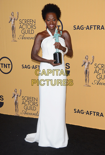 25 January 2015 - Los Angeles, California - Viola Davis.<br /> 21st Annual SAG Awards Press Room held at the Los Angeles Shrine Exposition Center. <br /> CAP/ADM/BT<br /> &copy;BT/ADM/Capital Pictures