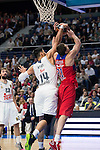 Real Madrid's player Gustavo Ayon and Felipe Reyes and CSKA Moscu's player Khryapa during the match between Real Madrid and CSKA Moscu of Turkish Airlines Euroleague at Barclaycard Center in Madrid, March 02, 2016. (ALTERPHOTOS/BorjaB.Hojas) during the match between Real Madrid and CSKA Moscu of Turkish Airlines Euroleague at Barclaycard Center in Madrid, March 02, 2016. (ALTERPHOTOS/BorjaB.Hojas) and CSKA Moscu's player Khryapa during the match between Real Madrid and CSKA Moscu of Turkish Airlines Euroleague at Barclaycard Center in Madrid, March 02, 2016. (ALTERPHOTOS/BorjaB.Hojas) during the match between Real Madrid and CSKA Moscu of Turkish Airlines Euroleague at Barclaycard Center in Madrid, March 02, 2016. (ALTERPHOTOS/BorjaB.Hojas)