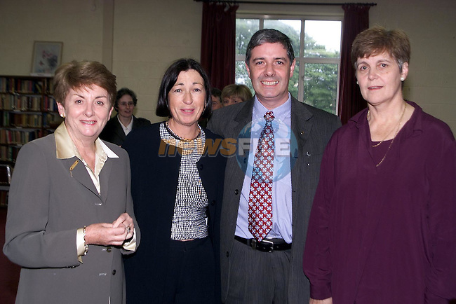 Maeve Furey, Jo Meade, Don Hodgers and Maureen Collins at the 40th Anniversary celebrations for the Sacred Heart School..Picture Paul Mohan Newsfile