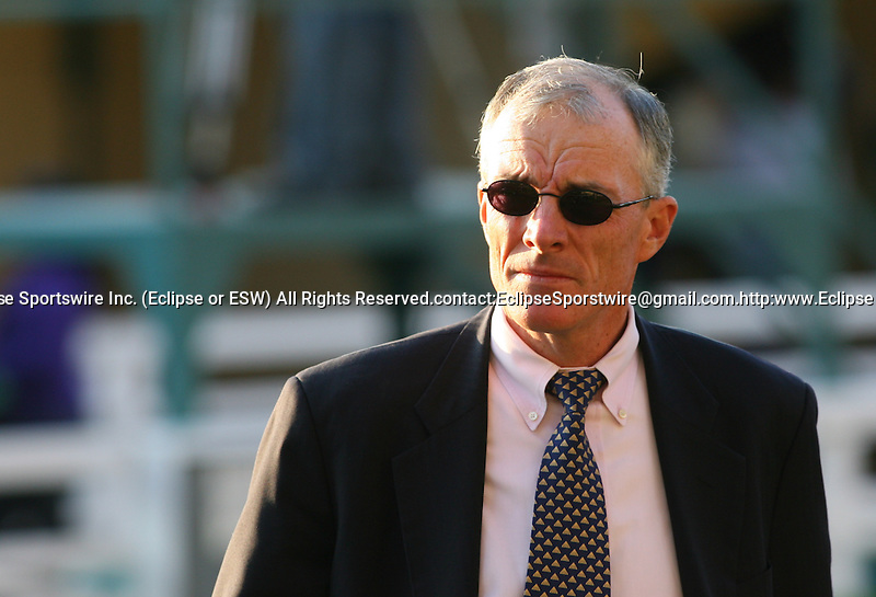 21 November 2009: Trainer Eoin Harty before American Lion and Julien Leparoux win the Hollywood Prevue Stakes (GIII) at Hollywood Park, Inglewood, CA.