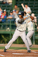April 16, 2009:  Left Fielder Eric Thames of the Dunedin Blue Jays, Florida State League Class-A affiliate of the Toronto Blue Jays, during a game at Jackie Robinson Stadium in Daytona Beach, FL.  Photo by:  Mike Janes/Four Seam Images