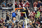 DALLAS, TX - APRIL 2: Head Coach Dawn Staley of the South Carolina Gamecocks cuts down the net after defeating the Mississippi State Lady Bulldogs during the 2017 Women's Final Four at American Airlines Center on April 2, 2017 in Dallas, Texas. (Photo by Evert Nelson/NCAA Photos via Getty Images)