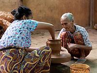 Small home Pottery in Sagaing near Mandalay, Myanmar