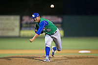 Lexington Legends relief pitcher Cruz Guevara (28) in action against the Kannapolis Intimidators at CMC-Northeast Stadium on May 26, 2015 in Kannapolis, North Carolina.  The Intimidators defeated the Legends 4-1.  (Brian Westerholt/Four Seam Images)