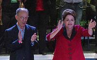 SAO PAULO, SP, 02.05.2014 - ENCONTRO NACIONAL DO PT - Dilma Rousseff presidente da Republica e Rui Falcao presidente nacional do PT durante XIV Encontro Nacional do PT no Anhembi região norte da cidade de Sao Paulo nesta sexta-feira, 02. (Foto: Amauri Nehn / Brazil Proto Press).