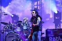SHEPTON MALLET, ENGLAND - JUNE 30:  Simon Gallup of 'The Cure' performing at Glastonbury Festival, Worthy Farm, Pilton, on June 30, 2019 in Shepton Mallet, England.<br /> CAP/MAR<br /> ©MAR/Capital Pictures