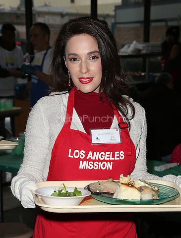 Los Angeles, CA - DECEMBER 23: Christina DeRosa, At Los Angeles Mission Christmas Celebration, At The Los Angeles Mission In California on December 23, 2016. Credit: Faye Sadou/MediaPunch