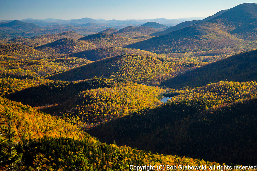 View From Giant Mountain Looking East In The Adirorandack Mountains Of New York State