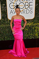 Karrueche Tran at the 74th Golden Globe Awards  at The Beverly Hilton Hotel, Los Angeles USA 8th January  2017<br /> Picture: Paul Smith/Featureflash/SilverHub 0208 004 5359 sales@silverhubmedia.com