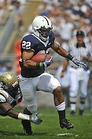 05 September 2009:  Penn State RB Evan Royster (22)..The Penn State Nittany Lions defeated the Akron Zips 31-7 at Beaver Stadium in State College, PA..