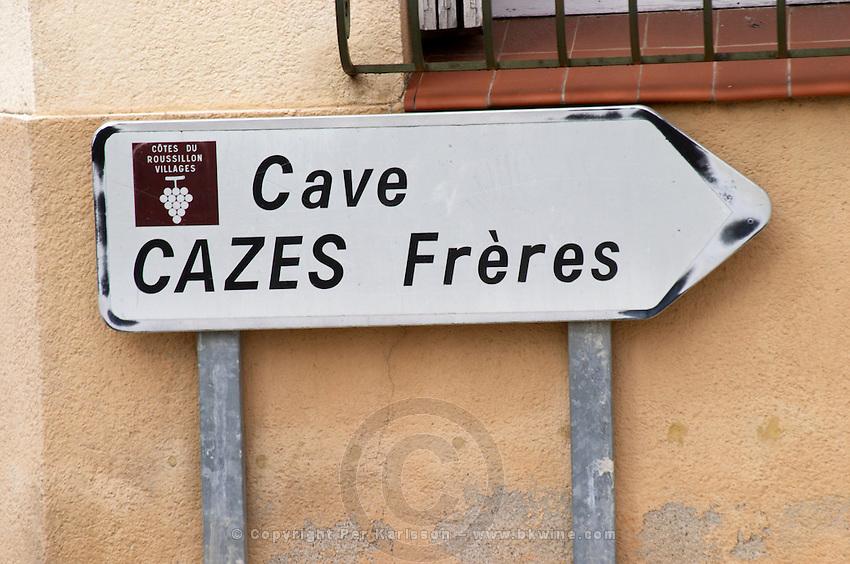 Cave Cazes. Rivesaltes town, Roussillon, France
