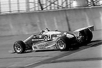 BROOKLYN, MI - SEPTEMBER 22: Johnny Rutherford drives the Alex Morales March 85C/Cosworth during the Detroit News 200 CART Indy Car race at the Michigan International Speedway near Brooklyn, Michigan, on September 22, 1985.