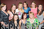 BIRTHDAY: Melissa Brassil-Nolan, Caherslee (seated centre), having a ball with her sisters and friends at her birthday party held in The Station House, Blennerville, on Friday night. Seated l-r: Aine O'Keeffe, Melissa Brassil-Nolan and Denise Brassil. Standing l-r: Margaret Moriarty, Deirdre Coughlan, Rachel Brassil, Claire Moriarty, Emma Morrison and Debbie Walsh.   Copyright Kerry's Eye 2008