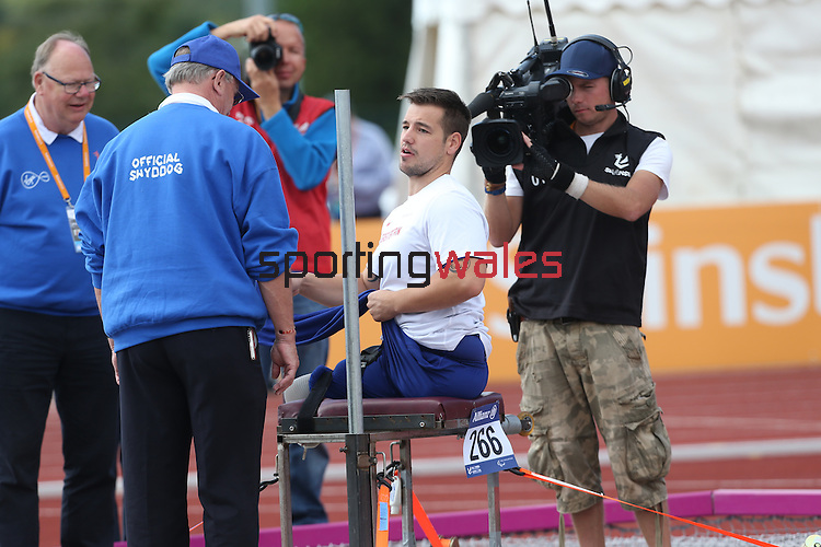 IPC European Athletics Championship 2014<br /> Nathan Stephens GBR<br /> Men's Javelin F57<br /> Swansea University<br /> 20.08.14<br /> &copy;Steve Pope-SPORTINGWALES