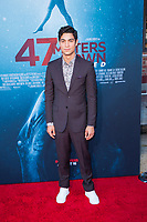 Los Angeles, CA - AUGUST 13th: <br /> Davi Santos attends the 47 Meters Down: Uncaged premiere at the Regency Village Theater on August 13th 2019. Credit: Tony Forte/MediaPunch