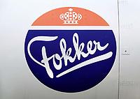 Nederland Lelystad-  Januari 2018.  Lelystad Airport.  Fokker vliegtuig.  Foto Berlinda van Dam / Hollandse Hoogte