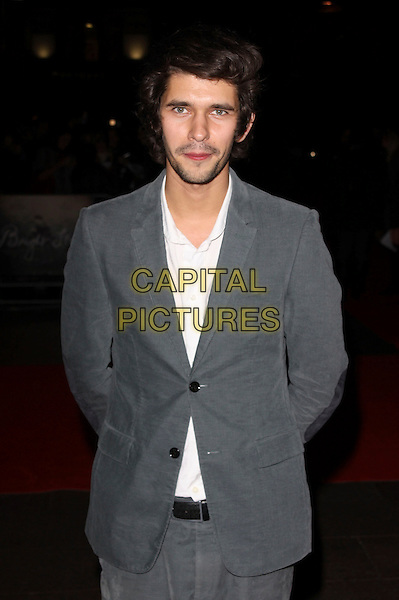 BEN WHISHAW .attends the premiere for 'Bright Star' during the Times BFI 53rd London Film Festival at the Odeon Leicester Square, London, England,.October 19th 2009..half length suit beard facial hair grey gray white shirt .CAP/AH.©Adam Houghton/Capital Pictures.