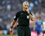 Referee Martin Atkinson in action during the FA Cup Semi Final match at Wembley Stadium, London. Picture date: April 22nd, 2017. Pic credit should read: David Klein/Sportimage