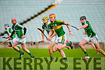 Michael O'Leary  Kerry races past Dan Morrissey Limerick during their Munster cup clash  in the Gaelic Grounds on Sunday