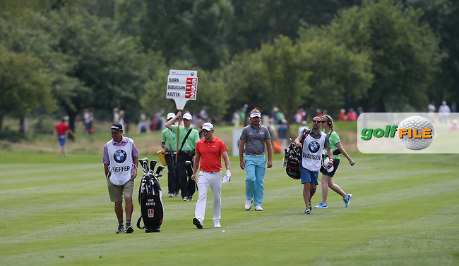 Maximilian Kieffer (GER) leads the chasing pack down the 9th during Round Two of the 2015 BMW International Open at Golfclub Munchen Eichenried, Eichenried, Munich, Germany. 26/06/2015. Picture David Lloyd | www.golffile.ie