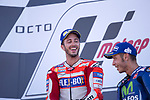 ANDREA DOVIZIOSO - ITALIAN - DUCATI TEAM - DUCATI<br /> VALENTINO ROSSI - ITALIAN - MOVISTAR YAMAHA MotoGP - YAMAHA