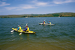 CA, california, kayakers at Tomales Bay, Point Reyes..Photo camari202. .Photo Copyright: Lee Foster, www.fostertravel.com, 510-549-2202, lee@fostertravel.com