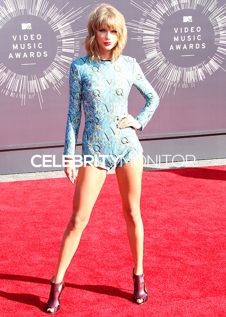 LOS ANGELES, CA, USA - AUGUST 24: Taylor Swift at the 2014 MTV Video Music Awards held at The Forum on August 24, 2014 in the Los Angeles, California, United States. (Photo by Xavier Collin/Celebrity Monitor)