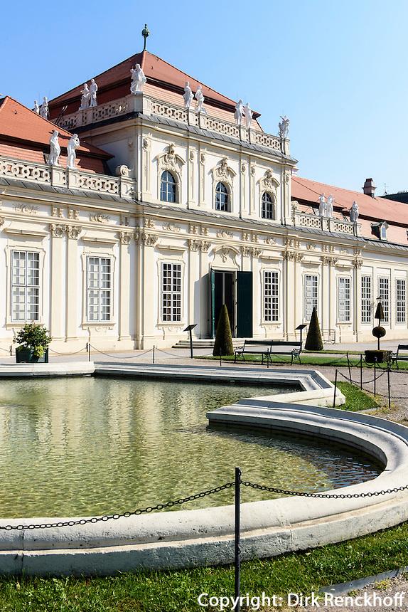 Unteres Belvedere in der barocken Sommerresidenz Belvedere, Wien, &Ouml;sterreich, UNESCO-Weltkulturerbe<br /> lower Belveder in Baroque summer residence Belvedere, Vienna, Austria, world heritage