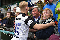 Matt Protheroe of Bristol Bears with the crowd. Gallagher Premiership match, between Leicester Tigers and Bristol Bears on April 27, 2019 at Welford Road in Leicester, England. Photo by: Patrick Khachfe / JMP