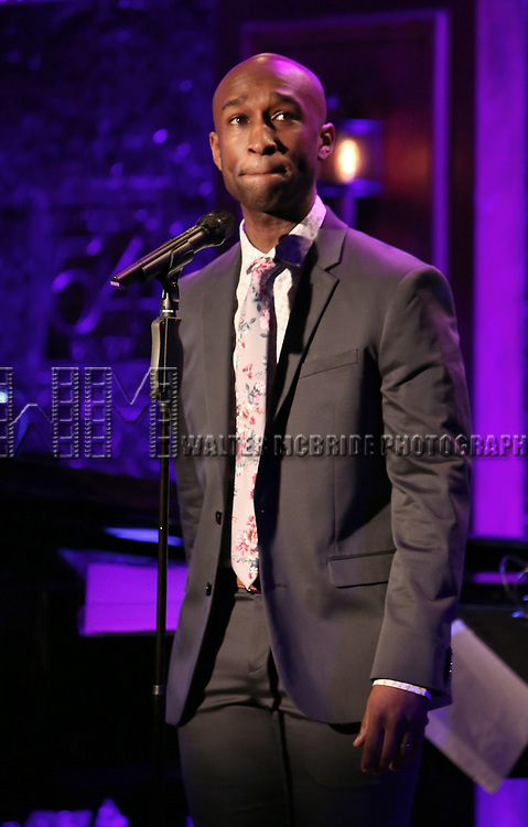 """on stage during a Song preview performance of the BeBe Winans Broadway Bound Musical """"Born For This"""" at Feinstein's 54 Below on November 5, 2018 in New York City."""