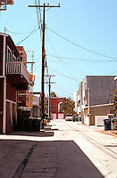 Venice CA: Alley between Linnie & Howland Canals. Photo  '01.