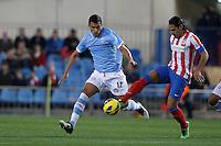 21.12.2012 SPAIN -  La Liga 12/13 Matchday 17th  match played between Atletico de Madrid vs Celta de Vigo (1-0) at Vicente Calderon stadium. The picture show  Radamel Falcao Garcia (Colombian striker of At. Madrid)