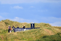 Will Besseling (NED) on the 6th tee during Round 3 of the Alfred Dunhill Links Championship 2019 at Kingbarns Golf CLub, Fife, Scotland. 28/09/2019.<br /> Picture Thos Caffrey / Golffile.ie<br /> <br /> All photo usage must carry mandatory copyright credit (© Golffile | Thos Caffrey)