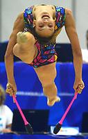 BARRANQUILLA - COLOMBIA, 30-07-2018:Gretel Mendoza (CUB) ,en  gimnasia rítmica .Juegos Centroamericanos y del Caribe Barranquilla 2018. / Gretel Mendoza (CUB)rhythmic gymnastics of the Central American and Caribbean Sports Games Barranquilla 2018. Photo: VizzorImage /  Alfonso Cervantes /Contribuidor