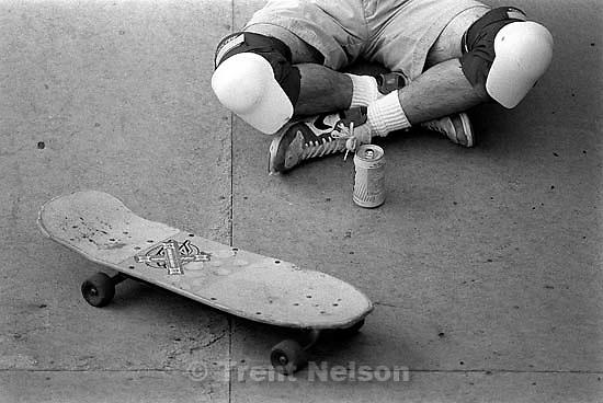 Peter Tisa on skate ramp.<br />