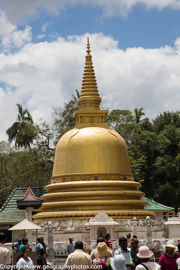 People at Dambulla Buddhist complex, Sri Lanka, Asia
