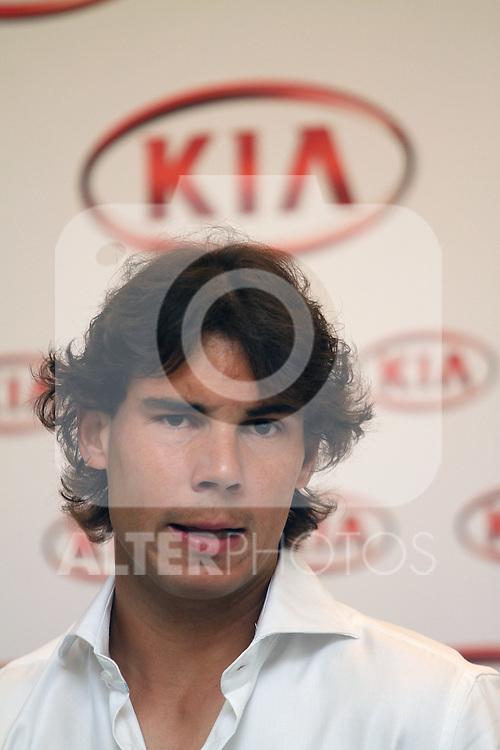Rafael Nadal during comercial event.May 5,2012. (ALTERPHOTOS/Alberto Simon)