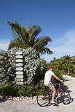 EXUMA, Bahamas. The directions to the different Villas at the Fowl Cay Resort.