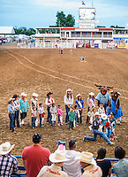 Miss Rodeo Colorado 2016 contestants during the Miss Rodeo Queen Colorado competition at the Greely Stampede in Greely, Colorado, July 1, 2015.<br /> <br /> Photo by Matt Nager