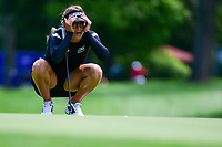 Giulia Molinaro (ITA) lines up her putt on 16 during Thursday's round 1 of the 2017 KPMG Women's PGA Championship, at Olympia Fields Country Club, Olympia Fields, Illinois. 6/29/2017.<br /> Picture: Golffile | Ken Murray<br /> <br /> <br /> All photo usage must carry mandatory copyright credit (&copy; Golffile | Ken Murray)