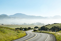 Highway 1 runs through San Simeon, California.