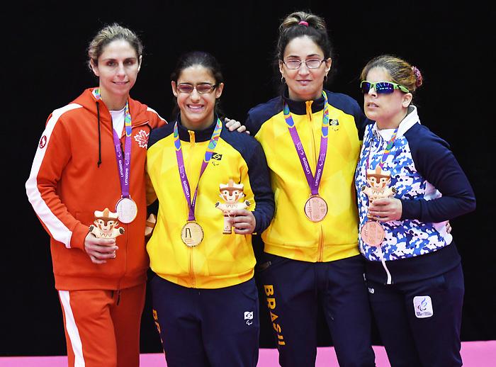 Priscilla Gagne wins Silver in Para Judo at the 2019 ParaPan American Games in Lima, Peru-24aug2019-Photo Scott Grant