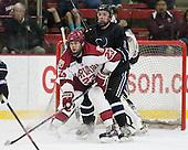 David Valek (Harvard - 23), Matt Maher (Bentley - 2) - The Harvard University Crimson defeated the visiting Bentley University Falcons 3-0 on Saturday, October 26, 2013, in Harvard's season opener at Bright-Landry Hockey Center in Cambridge, Massachusetts.