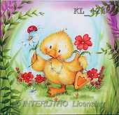 Interlitho, Theresa, CUTE ANIMALS, paintings, duck, flower, ladybird(KL4244,#AC#)