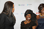 Beverly Johnson, Alexandreena Dixon, Bisila Bokoko at Color of Beauty Awards honoring supermodel Beverly Johnson on February 4, 2014 at Holy Apostles, New York City, New York. (Photo by Sue Coflin/Max Photos)