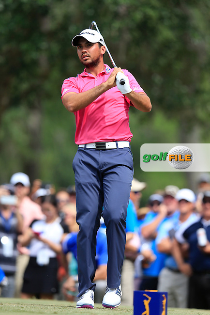 Jason Day (AUS) on the 9th tee during the final round of the Players, TPC Sawgrass, Championship Way, Ponte Vedra Beach, FL 32082, USA. 15/05/2016.<br /> Picture: Golffile | Fran Caffrey<br /> <br /> <br /> All photo usage must carry mandatory copyright credit (&copy; Golffile | Fran Caffrey)